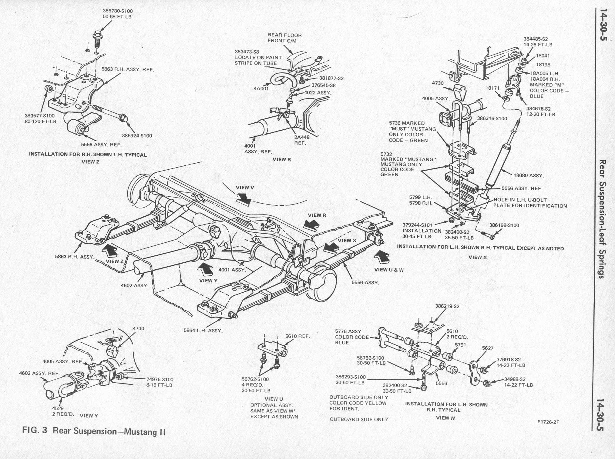 rear susp large the mustang ii organization mustang front suspension diagram at bayanpartner.co