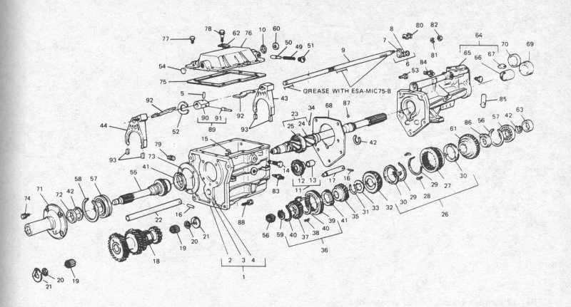 68 c4 transmission exploded view